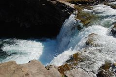Waterfall in Rockies Stock Photos