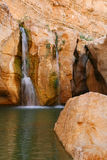 Waterfall in rocks Royalty Free Stock Images