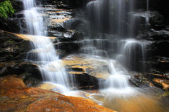 Waterfall and rocks Royalty Free Stock Photography