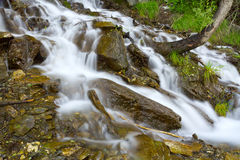 Waterfall rocks forest Royalty Free Stock Images
