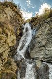 Waterfall in Gressoney Royalty Free Stock Image