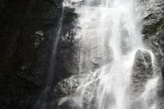 Waterfall on rocks. Grey, nature, georgia, travel, whte, relax, beuty royalty free stock photos
