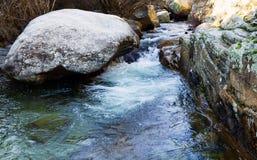 Waterfall and rocks Stock Photo