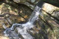 Waterfall on rocks Stock Photography
