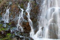 Waterfall among Rocks at Xyliatos dam in Cyprus Royalty Free Stock Image