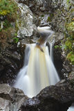 Waterfall in rocky creek. Falls of Bruar, Highlands of Scotland Stock Photos