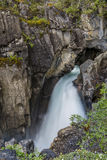Waterfall in the Rocky Mountains - Banff National Park Stock Images