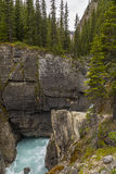 Waterfall in the Rocky Mountains - Banff National Park Royalty Free Stock Photo