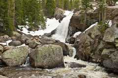 Waterfall in Rocky Mountains in Colorado Stock Image