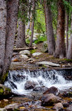 Waterfall and Rocky river bed Royalty Free Stock Photos