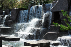 Waterfall at Roosevelt Memorial Royalty Free Stock Images