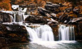 Waterfall in the natural park of Ordesa stock photos