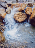 Waterfall. Running water Stock Images