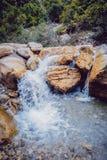 Waterfall. Running water Stock Image