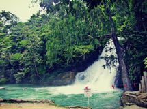 Free Waterfall S.L.P México Royalty Free Stock Photo - 38455905
