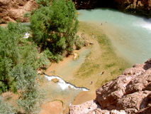 Waterfall's pool, Arizona stock image