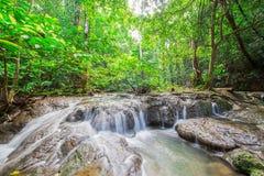 Waterfall at Sa Nang Manora Forest park in Phangnga province Stock Photos