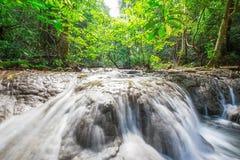 Waterfall at Sa Nang Manora Forest park in Phangnga province Royalty Free Stock Photo