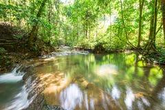 Waterfall at Sa Nang Manora Forest park in Phangnga province Royalty Free Stock Image