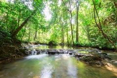 Waterfall at Sa Nang Manora Forest park in Phangnga province Royalty Free Stock Photos