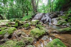 Waterfall at Sa Nang Manora Forest park in Phangnga province Stock Images