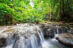 Waterfall at Sa Nang Manora Forest park in Phangnga province Royalty Free Stock Images
