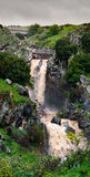 Waterfall Saar, Golan Heights, Israel Royalty Free Stock Image
