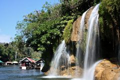 Waterfall in Sai Yok Royalty Free Stock Photos