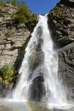 The waterfall of Saint Petronilla at Biasca Stock Photos