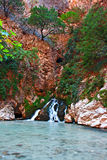 Waterfall at Saklikent Gorge in Turkey Stock Photos