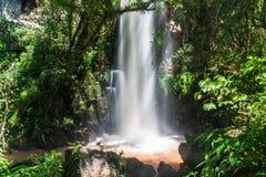 Waterfall Salto Chico. At Iguacu Iguazu falls on a border of Brazil and Argentina royalty free stock photos