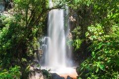 Waterfall Salto Chico. At Iguacu Iguazu falls on a border of Brazil and Argentina stock photography
