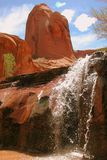 Waterfall, Sandstone Pillar Stock Image