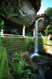 Waterfall. Sangchan Waterfall, Thailand. Known as the heart shape waterfall for it's characteristic Stock Photo