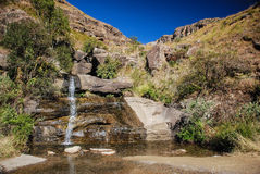 A waterfall on Sani Pass, South Africa Royalty Free Stock Photos