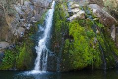 Waterfall in Santa Rosa de Calamuchita Royalty Free Stock Photo