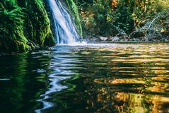 Waterfall in Santa Rosa de Calamuchita royalty free stock image