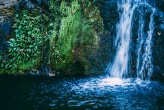Waterfall in Santa Rosa de Calamuchita stock images