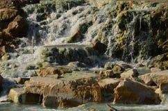 Waterfall at Saturnia Hot Springs Royalty Free Stock Photo