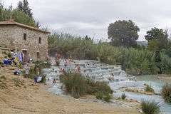 Waterfall of Saturnia Royalty Free Stock Photography