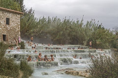 Waterfall of Saturnia Royalty Free Stock Photos