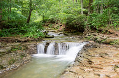 Waterfall at Saunders Spring. A waterfall at Saunders Spring in Radcliff, Kentucky Stock Image