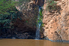 Waterfall in savanna Royalty Free Stock Photography