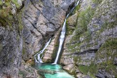 Waterfall Savica Royalty Free Stock Photo