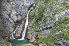 Waterfall Savica. In Slovenian national park Stock Photography