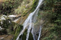 Waterfall scene. A beautiful image from one corner of the world Royalty Free Stock Photo