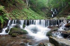 Waterfall scene. Beautiful waterfall scene, ukraine carpathian shipot waterfall Royalty Free Stock Photo