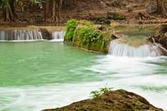 Waterfall Scene of Thailand Royalty Free Stock Image