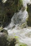 Waterfall scene in white water. Breaking on rocks Royalty Free Stock Images