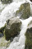Waterfall scene in white water Royalty Free Stock Image